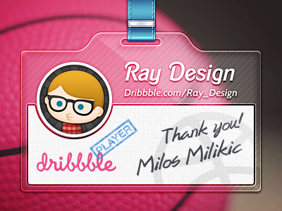 Thanks for invite!  invite freebie download psd dribbble player