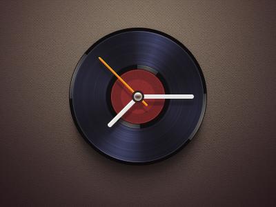 Disc Clock disc clock time music widget