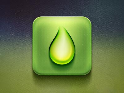 Drop icon drop icon ios design ui app water rain green