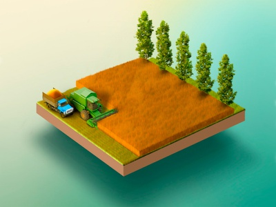 Harvesting. agriculture cereals illustration infographics wheat agronomy field harvester