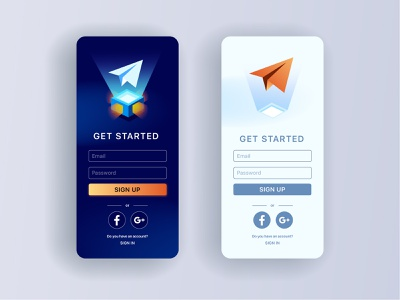 Sign up page ux ui illustration vector paper airplane registration screen sketch app scree sign up
