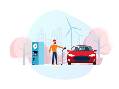 Electric car (illustration for the site)