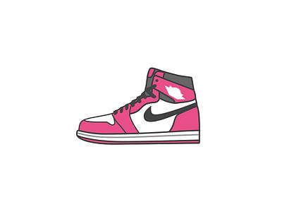 Air Jordan1-Dribbble style 球鞋 乔丹 air jordan icon illustrator sneaker aj dribbble