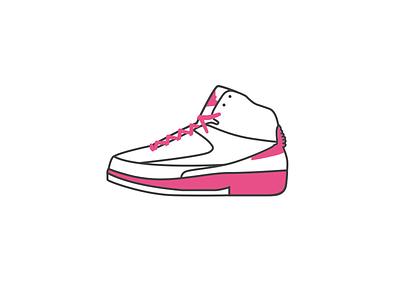 Air Jordan 2 - dribbble style illustration 球鞋 乔丹 sneaker illustrator aj icon air jordan dribbble