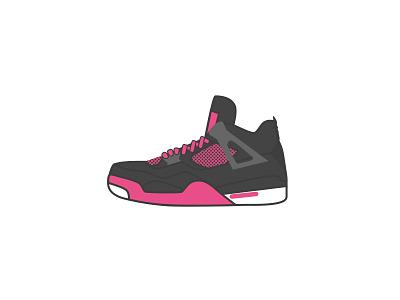 Air Jordan 4 - Dribbble style 球鞋 乔丹 sneaker illustrator icon aj air jordan dribbble