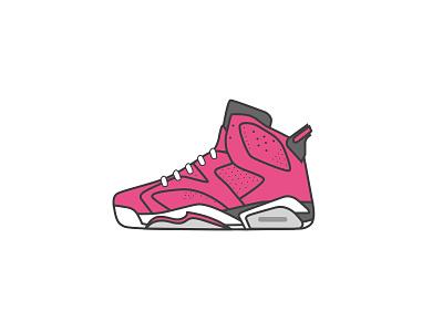 Air Jordan 6 hello illustration 球鞋 乔丹 sneaker illustrator aj icon air jordan dribbble