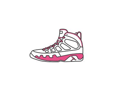 AirJordan9 - Dribbble style hello 球鞋 乔丹 sneaker illustrator icon aj logo illustration air jordan dribbble