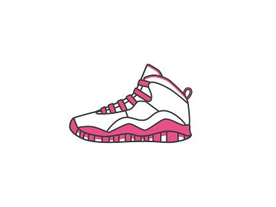 AirJordan10 - Dribbble style hello illustration 球鞋 乔丹 sneaker illustrator icon aj air jordan dribbble