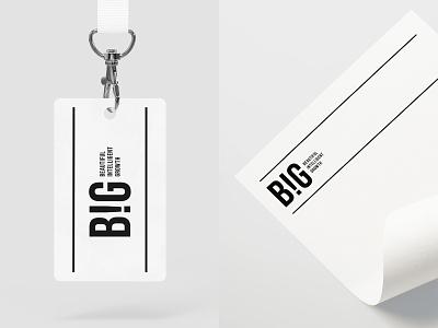 BIG big letterhead marketing brand firm logotype badge company agency new york logo designer branding logo