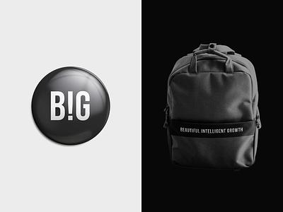 BIG big marketing brand pin firm logotype company agency new york logo designer branding logo backpack minimal