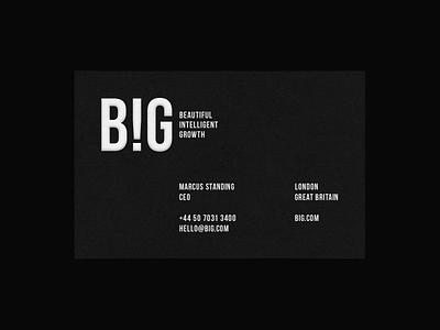 BIG paper business card minimal logo branding logo designer new york agency company logotype firm brand marketing big