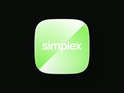 Simplex minimalistic logo tech clean app logo brand identity branding gradient green ios app icon logo designer new york logotype type design minimal logo