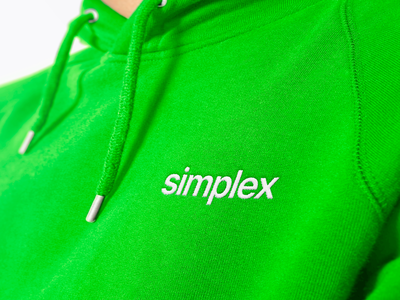 Simplex cloth texture vector kharkiv ukraine hoodie usa identity clean green gradient white logotype new york logo designer branding brand type minimal logo