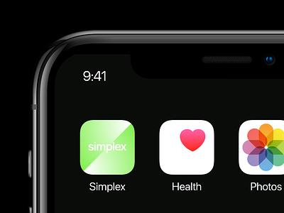 Simplex – iOS icon logo minimal modern new york logo designer gradient brand idenity branding logotype ios icon usa ukraine kharkiv green education platform app iphone