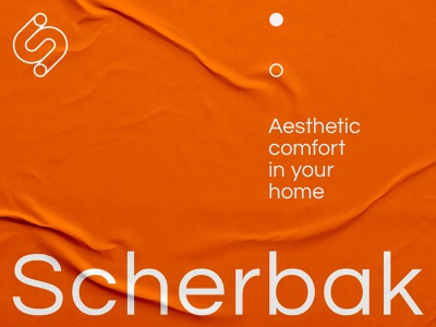 Scherbak – poster design branding brand identity poster graphic design typography letter layout print s logo monogram furniture minimal
