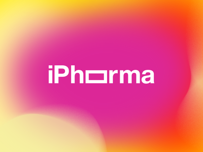 iPhorma phone gradient type logo