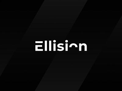 Ellision minimal white black type logo