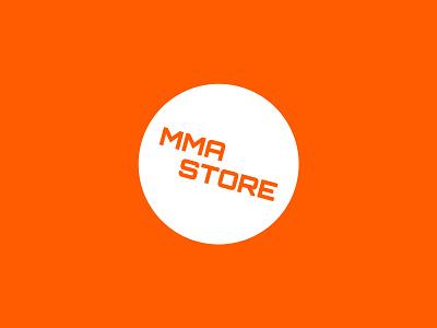 MMA Store logo mma minimal type orange