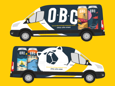 OBC Full Van Wrap wrap van beer branding bear labels design