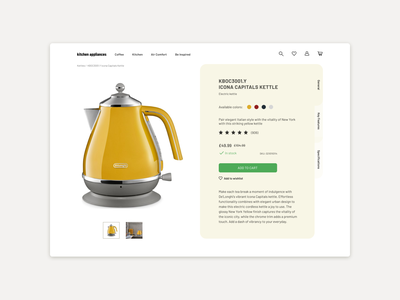 Daily UI 012 ECommerce Product page 012 dailyui