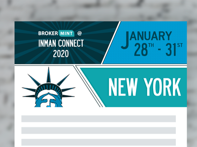 NY banner for Brokermint comic book style email banner