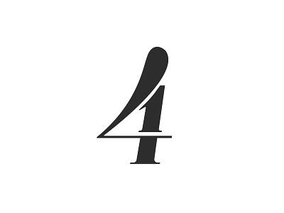 41 minimal numbers typography black logo
