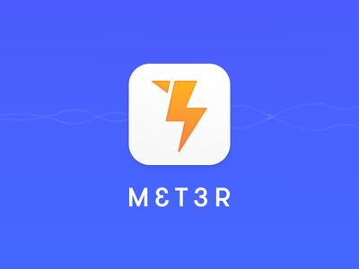 MET3R logo electricity minimal logo
