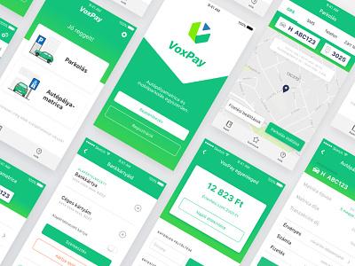 Parking app ux ui design ui app