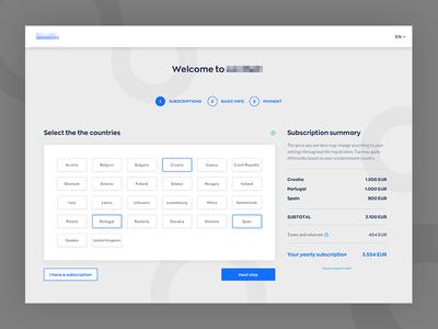 Registration process wip checkout registration clean website webdesign art direction ui design ux ui