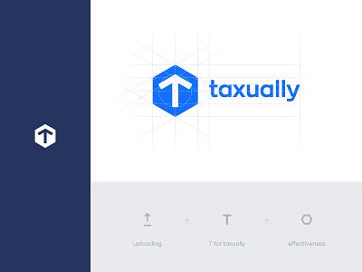 taxually logo logo design minimal branding logo