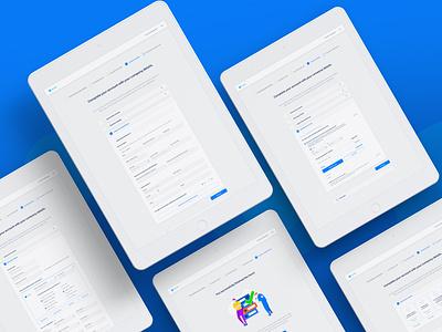 Registration forms minimal ux ui design