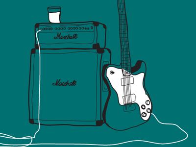 Guitar shot