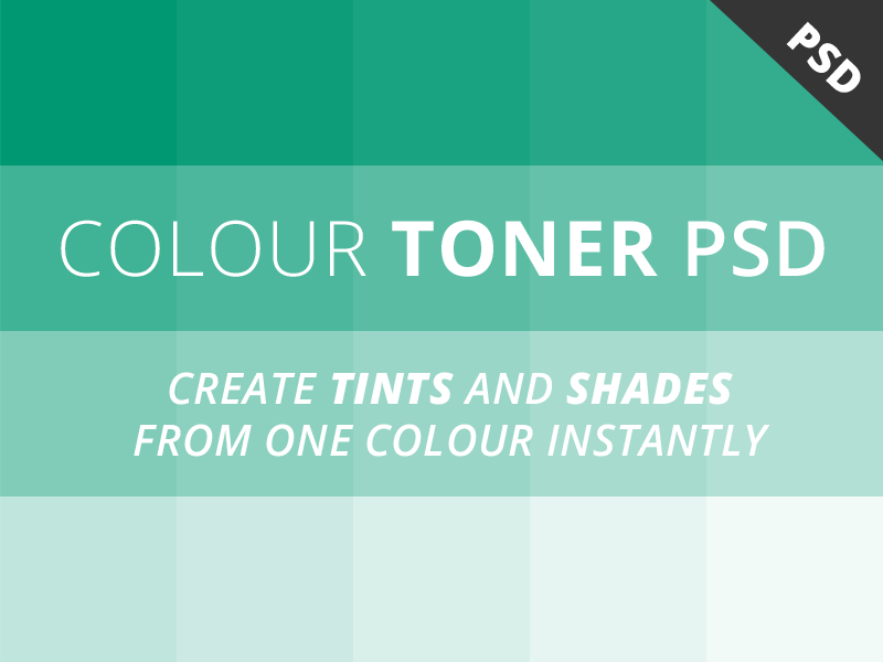 Free Colour Toner PSD colour colours tones tints shades psd download free useful