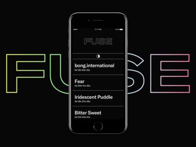FUSE minimal ui dark website black typography