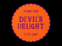 7 Sins bar and restaurant beer label