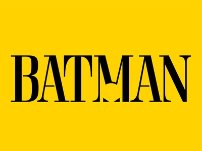 Batman 2021 typography experiment/logo idea