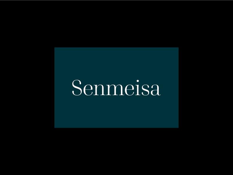 Senmeisa - Resin jewellery brand logo serif font custom typography jewellery serif branding logo design brand identity brand typography