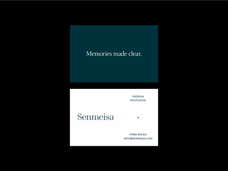 Senmeisa - Jewellery company business cards custom typography custom type serif logo stationery businesscard design brand identity brand typography