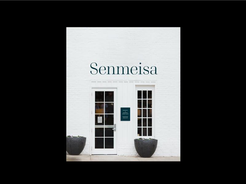 Senmeisa - Store front design necklace custom type jewellery brand shop store front serif typeface serif logo design brand identity brand typography