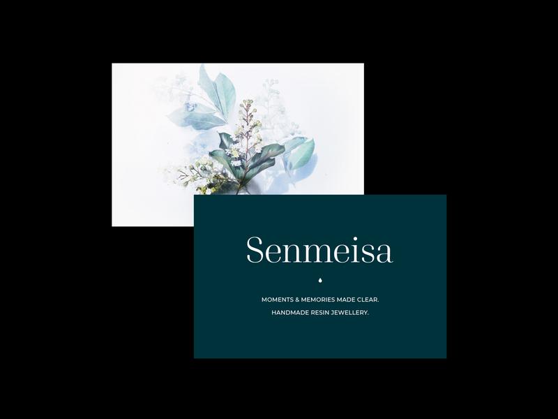Senmeisa - Handmade resin jewellery typeface serif logo branding jewellery shop photography floral design brand identity brand typography