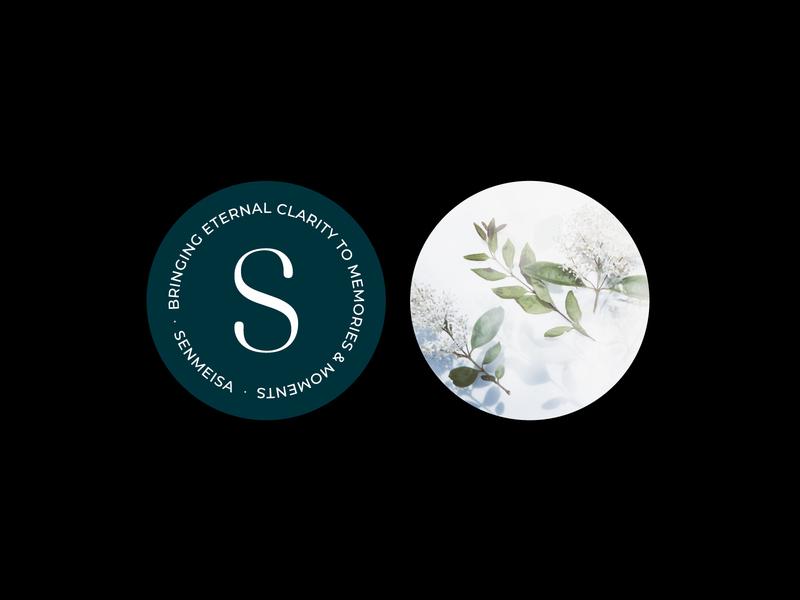 Senmeisa - badge and sticker design sticker design sticker custom typography typography design serif badge branding logo design brand identity brand typography