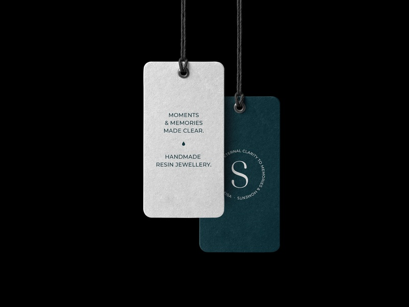 Senmeisa - product tags product design branding store jewellery shop tags shop product logo design brand identity brand typography