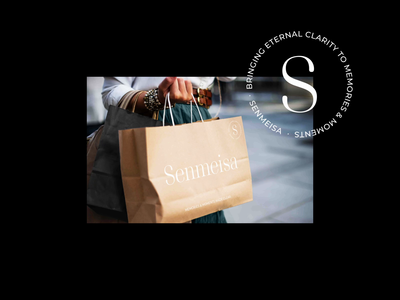 Senmeisa - paper shopping bag design jewellery paper bag paper packaging product packaging product bag shopping bag shopping s serif badge branding logo design brand identity brand typography