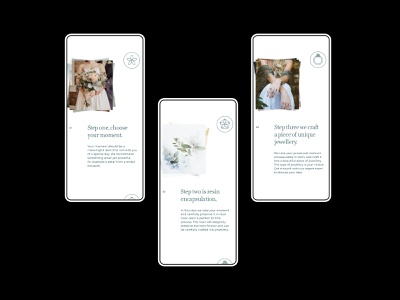 Senmeisa mobile website design mockup brand identity brand interaction ux ui process steps typography jewellery mobile website design mobile website web design