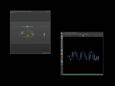 Lighting lesson for a new podcast brand octane cinema4d c4d wave podcast soundwave design animation dark branding brand logo lighting