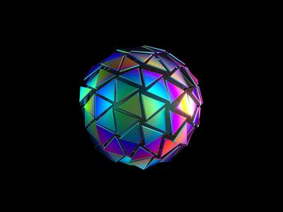 Orb 1/4 - VR branding animation brand identity branding iridescent octane cinema 4d orbs transforming