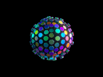 Orb 4/4 - VR branding animation branding and identity branding iridescent octane cinema 4d orb transforming 3d
