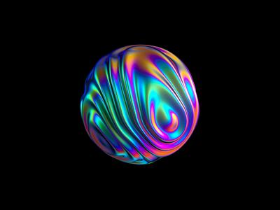Orb 2/4 - VR branding animation branding and identity branding iridescent octane cinema 4d orb transforming 3d
