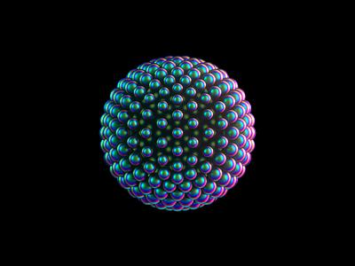 Orb 3/4 - VR branding animation brand identity branding iridescent octane cinema4d orb transforming 3d