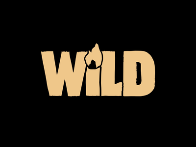 WiLD - Indie exploration game concept brand/logo custom type lettering hand drawn illustration black yellow procreate after effects outdoors nature wild flame fire animation logo brand brand identity typography